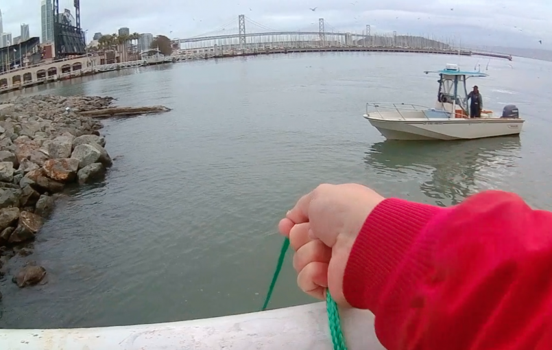 Here is the very first time I attempted to cast for herring in San Francisco Bay and cook them. I only caught one, but I was pretty excited nonetheless! A fellow angler gave me a few more and I was able to have a couple for lunch. 6.5 minutes
