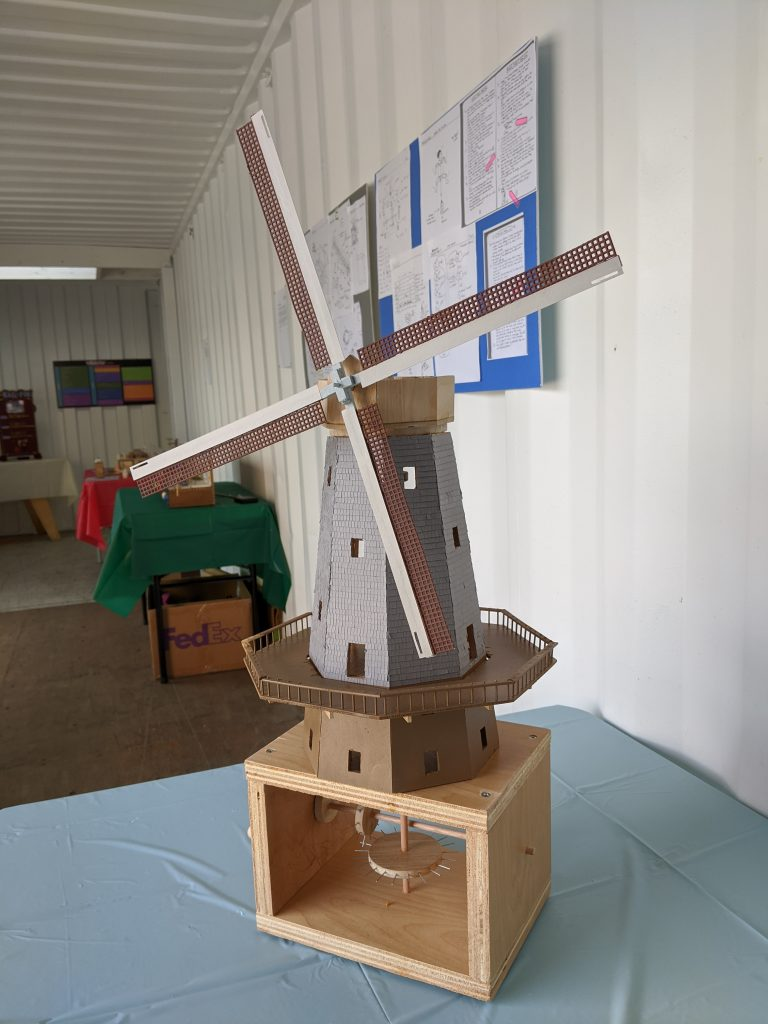 Picture of a model of the Murphy Windmill in San Francisco